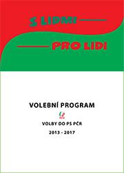 Volební program do PS PČR (2013 - 2017)